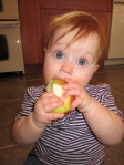 Abby LOVES this apple