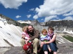 Family on Imogene Pass